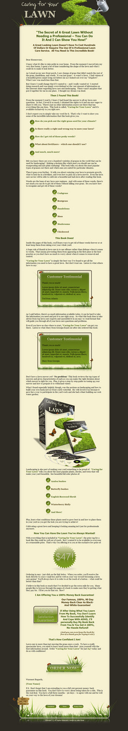 Product picture Caring For Your Lawn Niche Turnkey Package