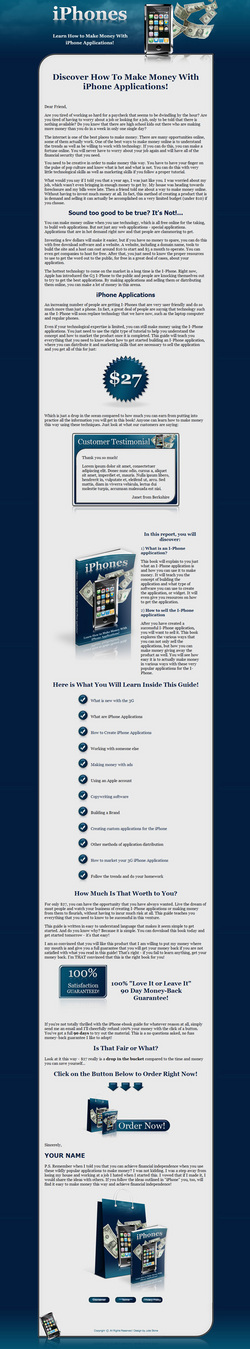 Product picture Make Money With iPhones Niche Turnkey Package